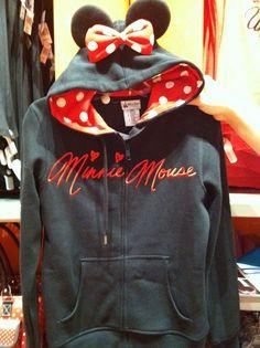 Minnie Mouse hoodie.