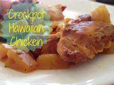 Say hello to summer with crockpot hawaiian chicken #glutenfree
