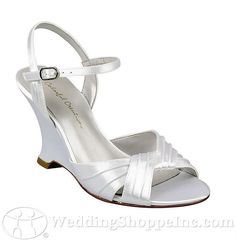 White Low Heels Weddings Shoe