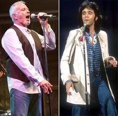 David Essex - on the right, how he was in 1974 when I saw him then. and on the left is how he will probably look when I see him this December! Gorgeous Men, Beautiful People, Essex Boys, David Essex, Pop Charts, Film Script, 80s Pop, Rock Artists, David Cassidy