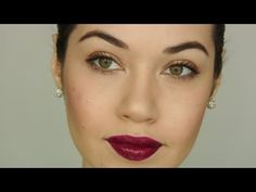 Dark Burgundy Lip Makeup Tutorial