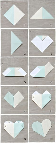 DIY: Origami Heart Escort Cards