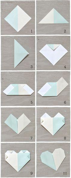 DIY: Origami Heart Escort Cards