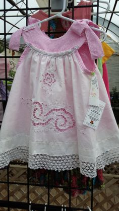Upcycled 3T White and Pink Two Layer Toddler Dress by 4LittleWings, $39.00