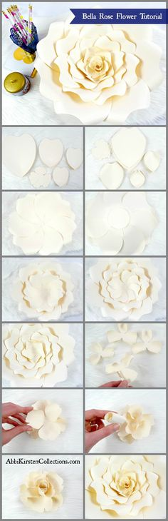 DIY Paper Rose Tutor