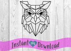 Owl Face Polygonal Minimalist Vector Clip Art svg Design File