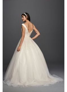 Jewel Tank Tulle Wedding Dress with Lace Applique WG3797 Lace Bodice 659938fe9eb0