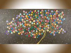 ***Title: Light up the Night  ***Size: 48 x 24 x 0.8  ***THEME: Whimsical tree…