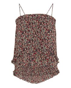Derek Lam 10 Crosby 2 in 1 Pleated Print Cami/Skirt: 10C wows us with versatile styles. This pleated print design can be worn as a cami with spaghetti straps or tuck them in and you've got a mini skirt. In red confetti. Fabric: 100% polyester Made in China.  Model Measurements: Height 5'8.5 ; Waist 24 ; ...