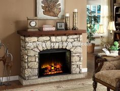 Luxury Decorative Marble Top Electric Fireplaces Wholesale (BF09-42006)