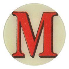 John Derian Company Inc — Red Letter M