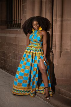 22 Latest Aso Ebi Styles For African American Women With Swag African Prom Dresses, African Fashion Dresses, African Attire, African Wear, African Dress, African Outfits, African Style, African Beauty, African Theme