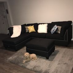 65 First Apartment Decorating Ideas on A Budget ~ House Design Ideas Glam Living Room, Living Room Decor Cozy, Teen Room Decor, Home Decor Bedroom, Home And Living, Small Living, Modern Living, Black Room Decor, Cozy Living