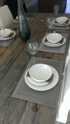 Distressed wood table with glass cover