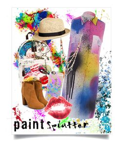 """""""Paint Splatter Kiss"""" by azler ❤ liked on Polyvore featuring Marc Jacobs, Christopher Kane, Betsey Johnson, Laurence Dacade, Casetify and paintsplatter"""