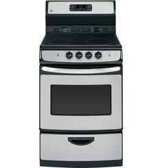 "Amazon.com: GE JA624RNSS 24"" Stainless Steel Electric Smoothtop Range: Appliances"