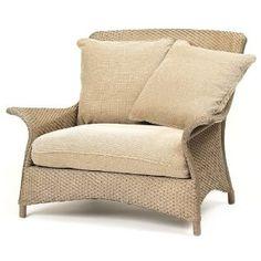 Lloyd Flanders Mandalay Wicker Chair And A Half