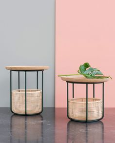 <p>'Basket tables' and 'Wicked' collections differ from the visual balance of each removable elements composing the products. The 'Woven' collection by Alain Gilles for Belgian furni