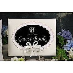 Wedding Guest book with mirror cover-Personalize it with Armour Glass Etching Cream & stencils. For more, visit www.etchworld.com