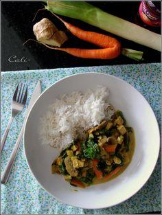 Curry de Tofu aux Champignons & Epinards 001