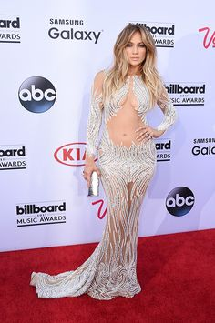 Jennifer Lopez shows off her flawless body in an embellished gown at the 2015 Billboard Music Awards
