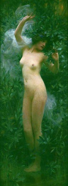 pre-raphaelisme:  Daphne by Arthur Hacker, circa 1890.