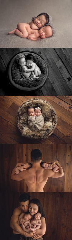 newborn twins photography - Des Moines, Iowa newborn photographer, Darcy Milder | His & Hers #iowa #desmoines #twins #photographer