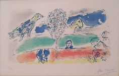 Marc Chagall -  The Green River (M.728), 1974 lithograph 16 1/2 x 26 1/4 inches