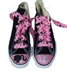Bling Barbie Converse Shoes, Bling Converse Sneakers