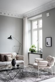 I can't get over the wall colors in this home. The pale pink bedroom walls come peeking through the light grey living room. Decor Inspiration, Living Room Inspiration, Decor Ideas, Target Home Decor, Cheap Home Decor, Beige And Grey Living Room, Pink Bedroom Walls, Shabby Bedroom, Pink Bedrooms