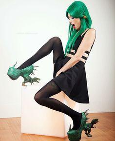 t rex jurassic pump dinosaur spike heels by kaylastojek on etsy