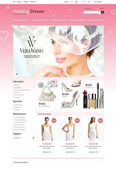 16+ Beautiful Wedding Dress, Services & Bridal Ecommerce Store PrestaShop Themes - Wedding Dresses