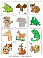 Animal Alphabet File Folder Game