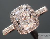 "Colorless Diamond Ring: 1.15ct D/VS2 Cushion Modified Brilliant GIA ""Uber"" Halo R4753"