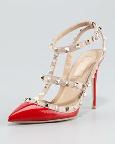 Valentino Rockstud Patent Sandal-  I think that buying these shoes will bring me immense happiness!