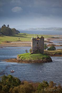Castle Stalker, Scotland (known to Monty Python fans as the Castle of Aaaaarrrrrrggghhh)