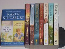 Karen Kingsbury lot of 8, Longing Loving Take One Two,This Side of Heaven 2-in-1