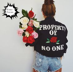 Fashion Property of rose no one embroidery jacket PTC 52 //Price: $63.79 & FREE Shipping //     #shirt