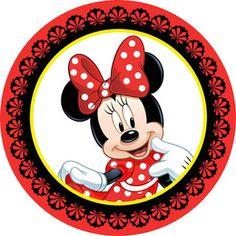 KIT FESTA PRONTA MINNIE GR�TIS PARA BAIXAR Minnie Png, Minnie Mouse Cake, Bolo Minnie, Do It Yourself Inspiration, Disney Cards, Minnie Birthday, Mickey Party, Bottle Cap Images, Disney Scrapbook