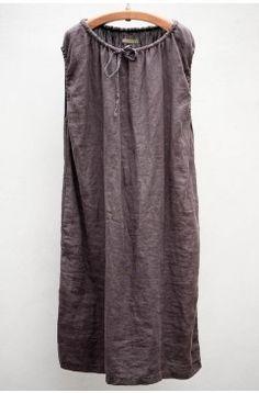 Plum Linen Dress / heist