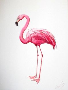 Custom Flamingo Painting by Suren Nersisyan. On its way to my house right now… YAYY!: