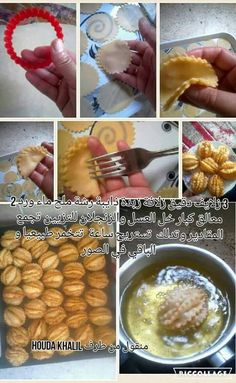 griwech_al_farchita. Ramadan Sweets, Arabic Sweets, Arabic Food, Tunisian Food, Algerian Recipes, Puff Pastry Dough, Home Baking, Cake Decorating Tips, Sweet And Salty