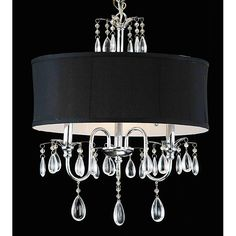 chandeliers with shades | Designed To The Nines | Friday's Frivolty: Drum Shade Chandeliers