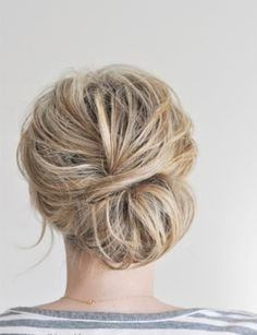 Casual up-do's