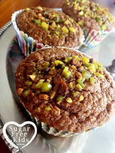 These tasty fluffy Sugar Free muffins are full of healthy grains and perfect for school lunch boxes, providing long lasting energy to your kids. Very easy to throw together and easy to change ingre...