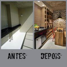 Mais um Antes | Depois! #manuelasenna#projetos#antesedepois#varandas#arquiteturadeinteriores #interiores#iluminaçao#decor#decoraçao#decoration