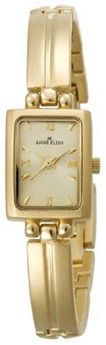Anne Klein Women's 10-5404CHGB Gold-Tone Dress Watch Anne Klein. $37.88. Case diameter: 16 mm. Gold-tone case and bracelet. Brass case; champagne dial. Gold-tone Roman numeral markers. Rectangle champagne dial. Save 31%!
