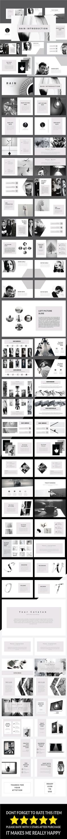Rain - Multipurpose PowerPoint Template - PowerPoint Templates Presentation Templates