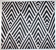 Black and White Pattern Painting