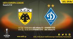 AEK - DYNAMO KIEV EUROPA LEAGUE 2018 ROUND OF 32